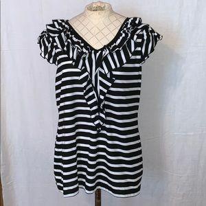 Cato Black and White Large Shirt